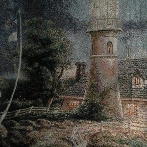 Other - TAPESTRY THOMAS KINKADE  LIGHT HOUSE WITH FRINGE